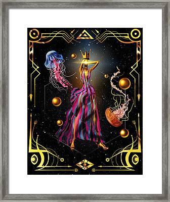 Fashion Goddess No. 3 Framed Print by Kenal Louis