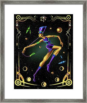 Fashion Goddess No. 4 Framed Print by Kenal Louis