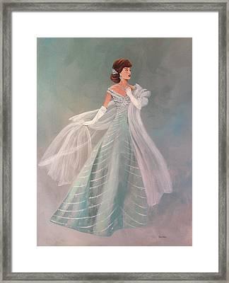 Fashion Illustration Vintage Fashion Fifties Style  Vintage Style Framed Print