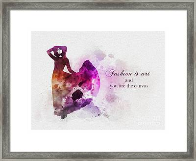 Fashion Is Art Framed Print