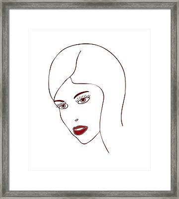 Fashion Model Framed Print by Frank Tschakert