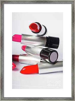 Fashion Model Lipstick Framed Print by Jorgo Photography - Wall Art Gallery