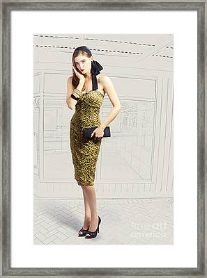 Fashion Photo Illustration Framed Print by Jorgo Photography - Wall Art Gallery