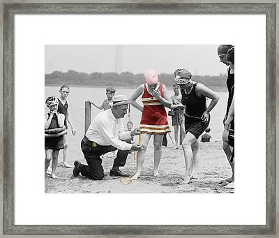 Fashion Police Framed Print by Andrew Fare