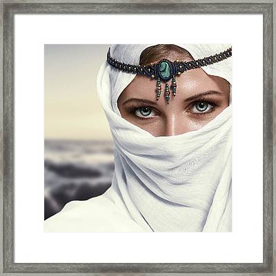 Fashion Woman Framed Print by IPolyPhoto Art