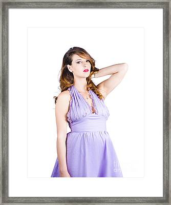 Fashionable Woman In Dress Framed Print