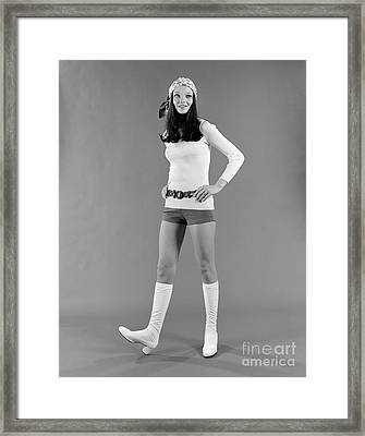 Fashionable Young Woman, C. 1970s Framed Print