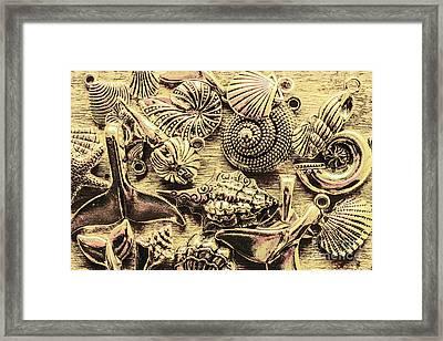 Fashioning A Oceanic Theme Framed Print