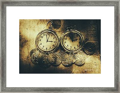 Fashioning The Time And Money Conundrum Framed Print