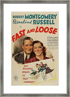 Fast And Loose 1939 Framed Print