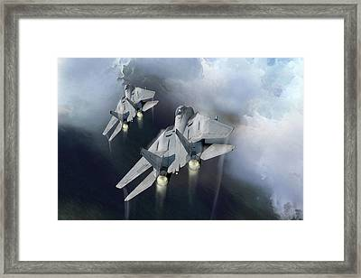 Fast Cats Framed Print by Peter Chilelli