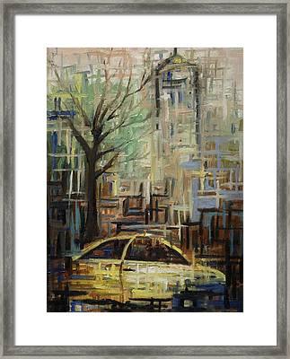 Fast City II Framed Print by Janel Bragg