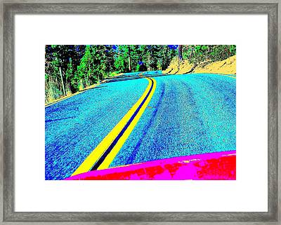 Framed Print featuring the photograph Fast Ferrari Above Tahoe by Don Struke