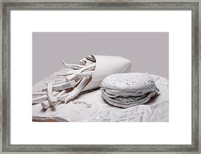 Fast Food - Burger And Fries Framed Print by Tom Mc Nemar