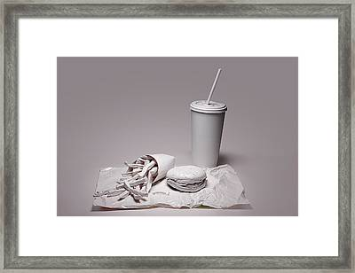 Fast Food Drive Through Framed Print