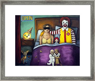 Fast Food Nightmare Framed Print by Leah Saulnier The Painting Maniac