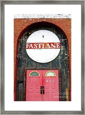 Fast Lane Asbury Park Framed Print