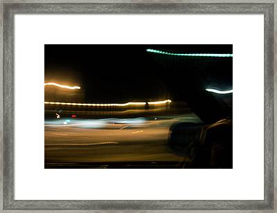 Fast Lane Framed Print