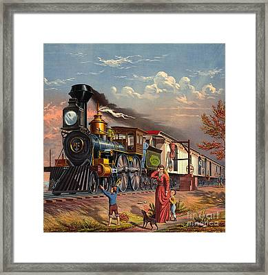 Fast Mail 1875 Framed Print by Padre Art