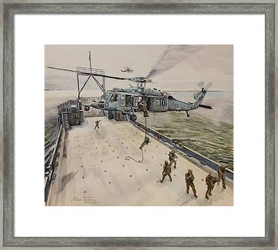Fast Rope Framed Print by Stan Tenney