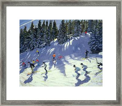 Fast Run Framed Print by Andrew Macara