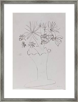 Fast Vase With Flowers Framed Print by MaryBeth Minton