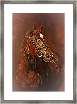 Fasten With A Buckle Framed Print