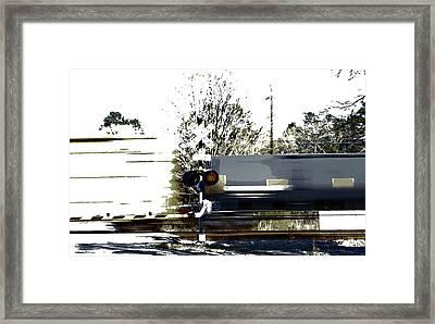 Faster Than A Speeding Train Framed Print by Skip Willits
