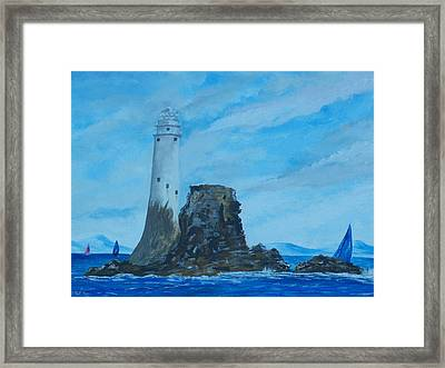 Fastnet Rock Lighthouse. Framed Print