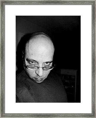 Fat Bald And Unhappy Framed Print by John Toxey