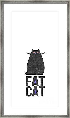 Fat Cat Framed Print