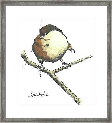 Fat Chickadee Framed Print