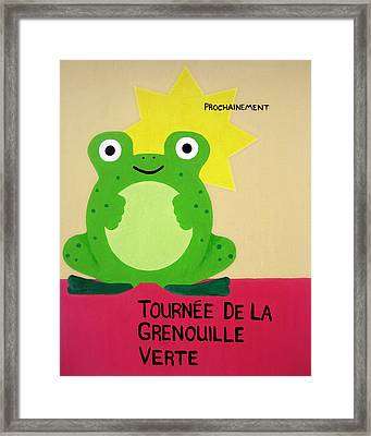 Fat Frog Best Framed Print by Oliver Johnston