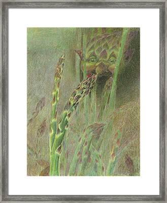 Fat Grass Delight Framed Print by Bon Vernarelli