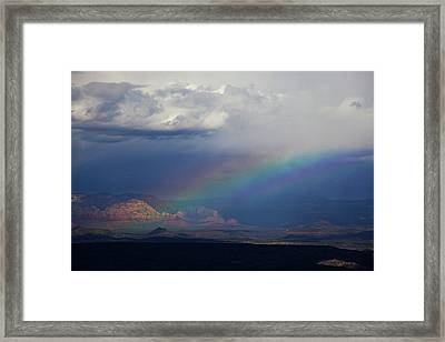 Framed Print featuring the photograph Fat Rainbow, Sedona Az by Ron Chilston