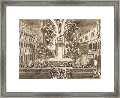 Fat Thursday In St Mark's Square In Venice, 1757 Framed Print by Italian School