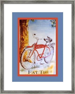 Fat Tire Ale Framed Print by Carol Leigh
