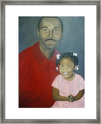 Father And Daughter Framed Print by Angelo Thomas