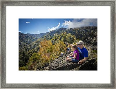 Father And Daughter Framed Print by Debra and Dave Vanderlaan