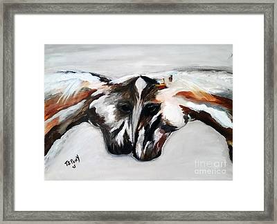 Father And Daughter - Find All The Animals Inside Framed Print by Barbie Batson