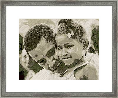 Father And Daughter Framed Print by LeeAnn Alexander