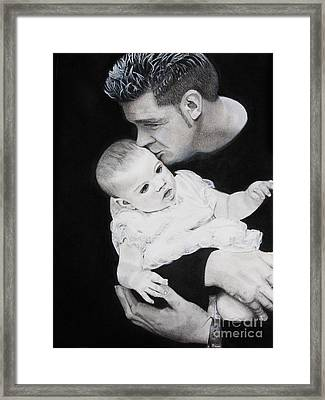 Father And  Daughter Framed Print by Raymond Potts