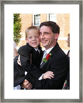 Father And Son Framed Print by Adam Cornelison