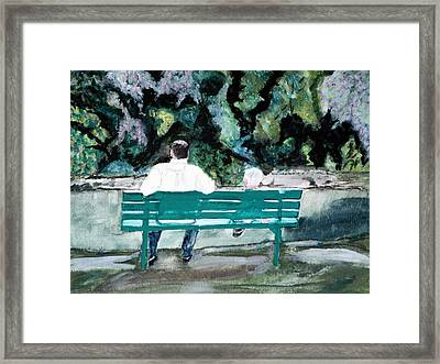 Father And Son Framed Print by Cathy Jourdan