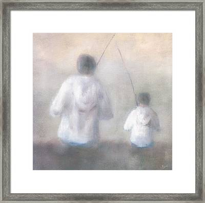 Father And Son Fishing Framed Print by Alan Daysh
