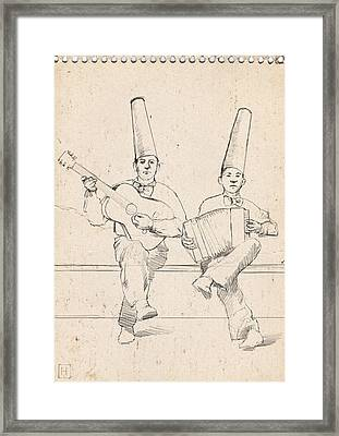 Father And Son Framed Print by H James Hoff