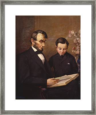 Father And Son Framed Print by Lewis A Ramsey