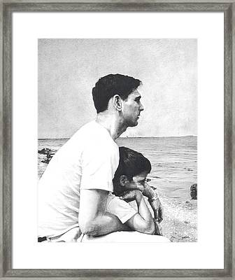 Father And Son Framed Print