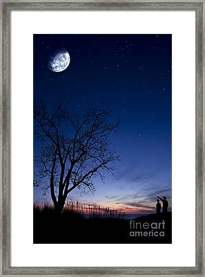 Father And Son Moment Framed Print by Joe Gee