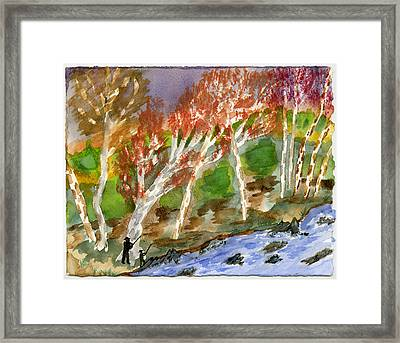 Father And Son Framed Print by Warren Thompson